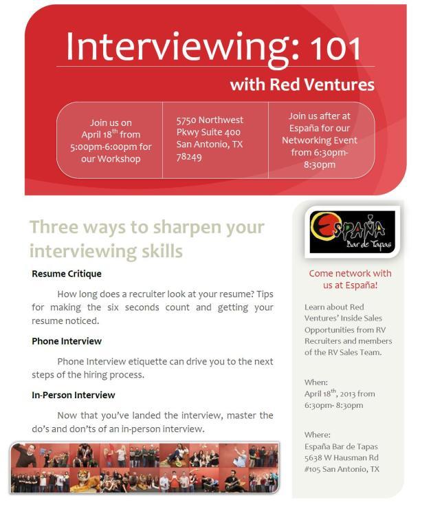 Red Ventures Workshop/Social